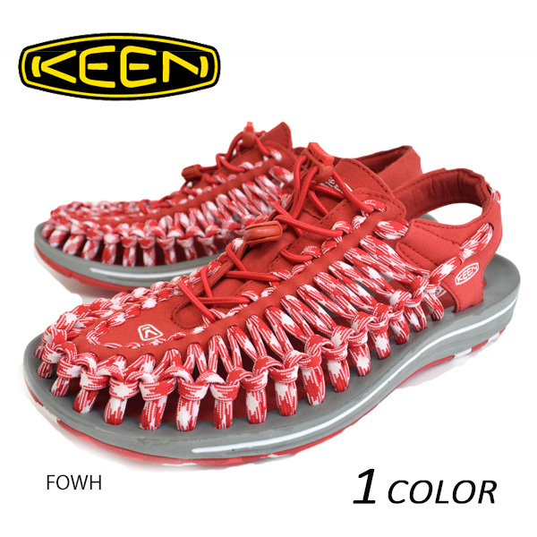 サンダル KEEN キーン UNEEK 8MM ユニーク Formula One/White 1014892/1014893 DD1 E26